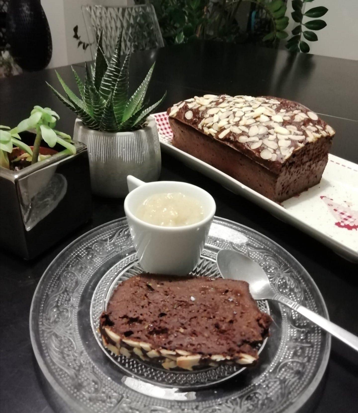 Cake léger au cacao et courgettes