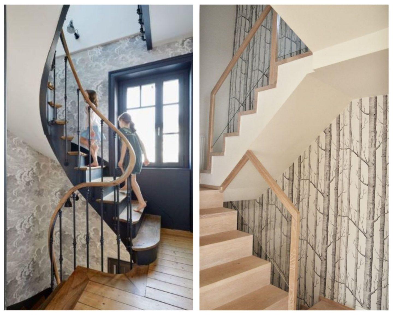 tapisser le mur d'un escalier