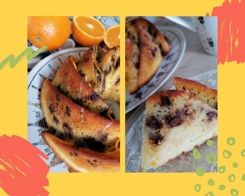 Le gâteau léger à l'orange